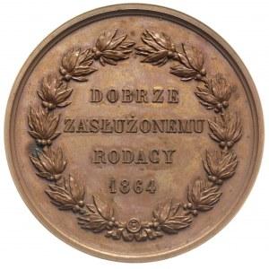 Aleksander Fredro, medal autorstwa Barre'a wybity 1864 ...
