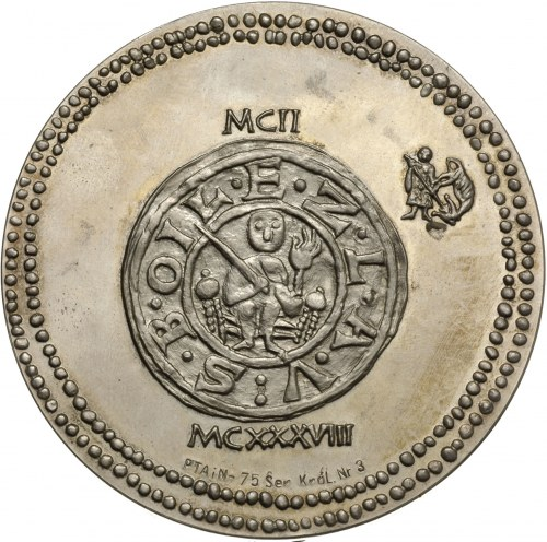 medal z serii królewskiej W. Korskiego -Bolesław Krzywo...