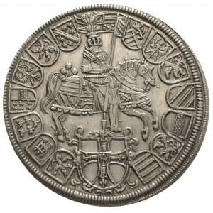 Arcyksiążę Maksymilian I 1590-1618, dwutalar 1614, sreb...