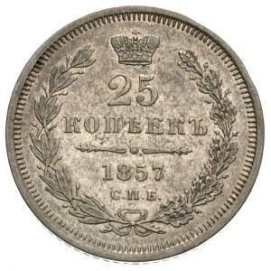 25 kopiejek 1857 СПБ/ФБ, Petersburg, Bitkin 55, patyna ...