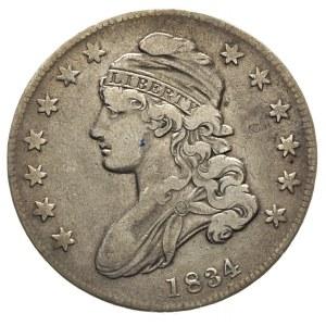 50 centów 1834, małe cyfry daty, patyna