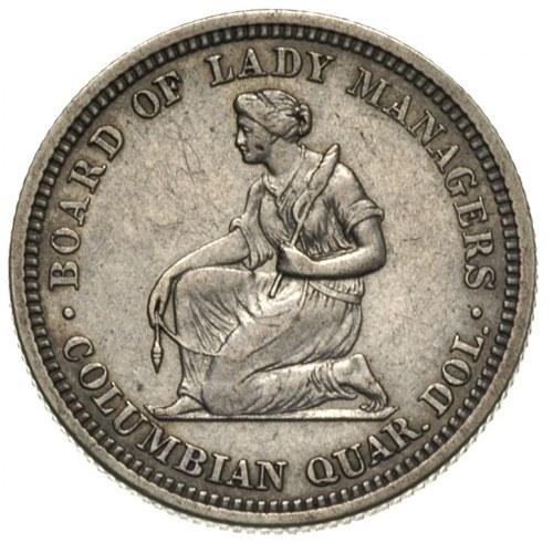 25 centów pamiątkowe 1893, typ Isabella Quarter, wybite...