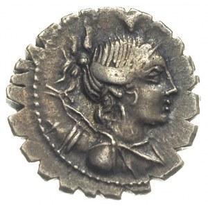denar 81 pne, Aw: Popiersie Diany z udrapowanymi włosam...