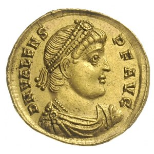 solidus 364-367, Nikomedia, Aw: Popiersie cesarza w dia...