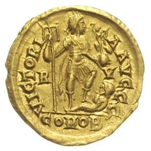 solidus 408-422, Rawenna, Aw: Popiersie cesarza w diade...