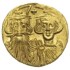 solidus ok. 661-663, Konstantynopol, Aw: Popiersia Kons...