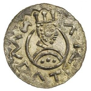 denar królewski po 1086, Aw: Popiersie króla w prawo, S...