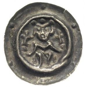 brakteat 1260-1278, Władca w koronie, siedzący na troni...