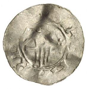 denar mennicy Lüneburg, Aw: Dłoń na tle długiego krzyża...