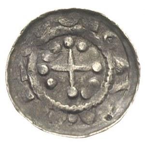 denar krzyżowy, Aw: Krzyż patriarchalny, w polach kulki...
