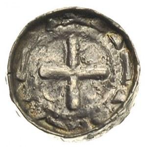 denar krzyżowy, Aw: Krzyż prosty i kółka w polach, Rw: ...