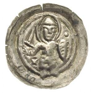brakteat, 2. połowa XII w.; Święty Maurycy z tarczą i m...