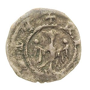 denar koronny, Aw: Głowa króla w koronie na wprost, Rw:...