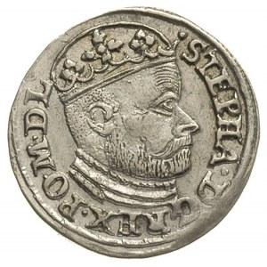 trojak 1586, Olkusz, odmiana z literami N-H, brak krzyż...