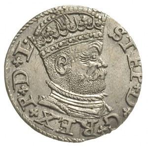 trojak 1586, Ryga, odmiana z małą głową króla, Iger R.8...