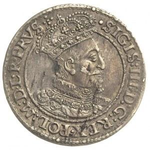 ort 1618, Gdańsk, PRVS i pięć kropek na końcu napisu, d...
