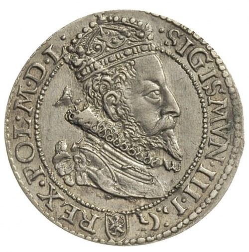 szóstak 1599, Malbork, moneta wybita nieco uszkodzonym ...