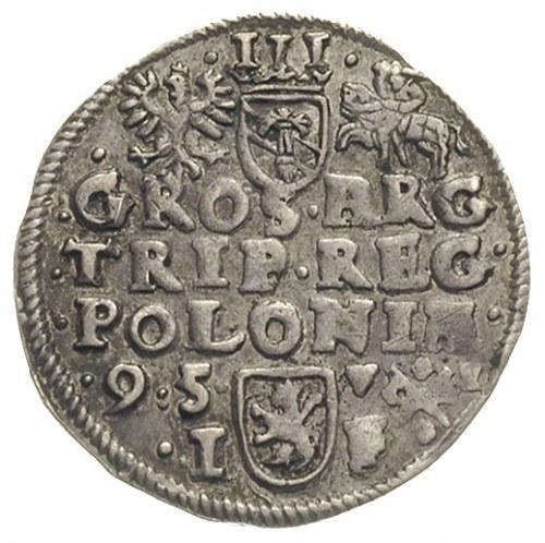 trojak 1595, Poznań, Iger P.95.4.b (R), delikatna patyn...