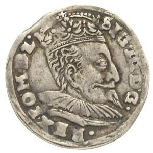 trojak 1596, Wilno, odmiana z herbem Chalecki pomiędzy ...