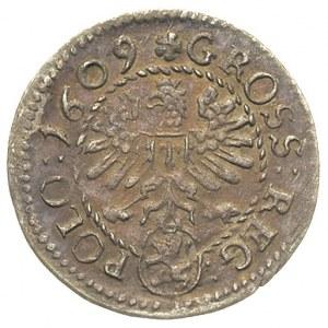 grosz 1609, Kraków, bardzo ładny, patyna