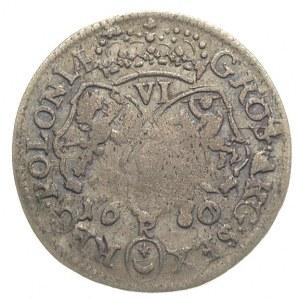 szóstak 1680, Kraków, odmiana z literą K pomiędzy cyfra...