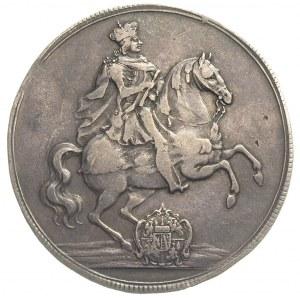 talar wikariacki 1711, Drezno, Aw: Król na koniu, Rw: D...
