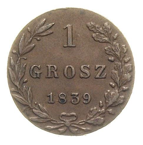 grosz 1839, Warszawa, Plage 254, Bitkin 1225, piękny, p...