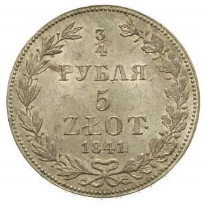 3/4 rubla = 5 złotych 1841, Warszawa, mniejsze cyfry da...
