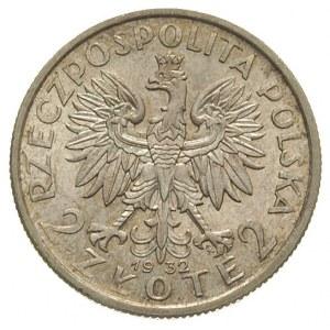 2 złote 1932, Warszawa, Głowa Kobiety, Parchimowicz 110...