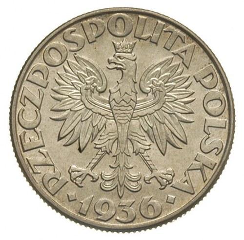 2 złote 1936, Warszawa, Żaglowiec, Parchimowicz 112, pi...