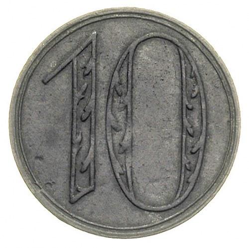 10 fenigów 1920, Gdańsk, odmiana z dużą cyfrą 10, Parch...