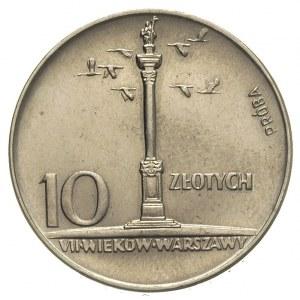 10 złotych 1966, \Mała kolumna, Parchimowicz P-256.a
