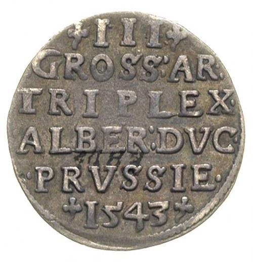 trojak 1543, Królewiec, Iger Pr.43.1.b (R), ciemna paty...