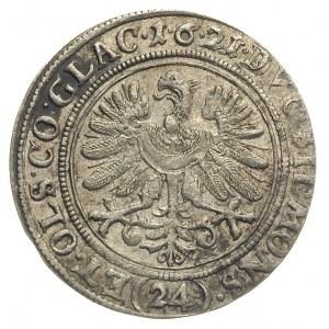 24 krajcary 1621, Oleśnica, litery B-H nad tarczą herbo...