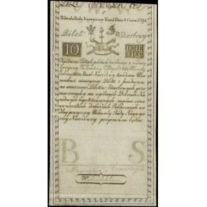 10 złotych 8.06.1794, seria C, Miłczak A2, Lucow 19 (R2...
