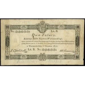 2 talary 1.12.1810, podpis S. Ossoliński, na stronie od...