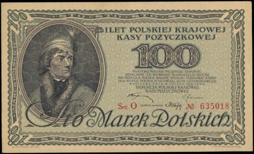100 marek polskich 15.02.1919, seria O, Miłczak 18a, Lu...