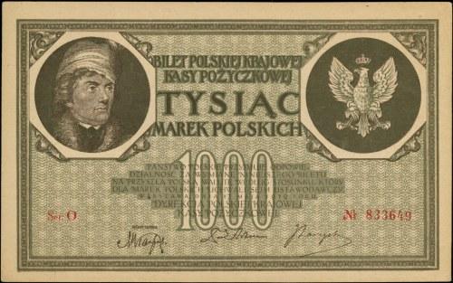 1.000 marek polskich 17.05.1919, seria O, Miłczak 22b, ...
