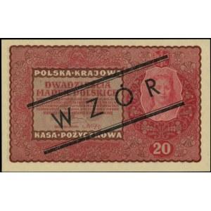 20 marek polskich 23.08.1919, WZÓR, II Serja EO, Miłcza...