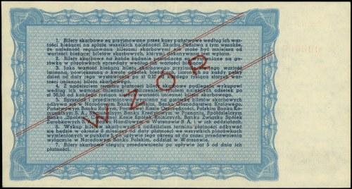 Wzór Biletu Skarbowego Ministerstwa Skarbu na sumę 10.0...