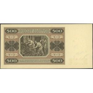 500 złotych 1948, seria AC, Miłczak 140bb, wyśmienicie ...