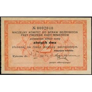 asygnata na 2 złote wydana przez Naczelny Komitet do Sp...