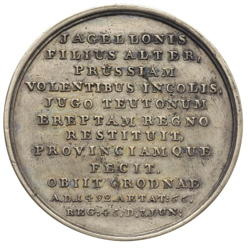 Kazimierz Jagiellończyk-medal ze świty królewskiej auto...