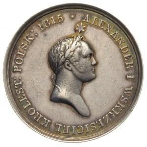 Aleksander I medal 1826 r, Aw: Popiersie cara w prawo i...