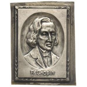 Fryderyk Chopin, plakietka niesygnowana, Popiersie arty...