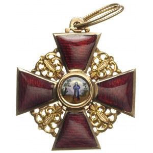 Order św. Anny krzyż 3 klasy, na stronie odwrotnej punc...