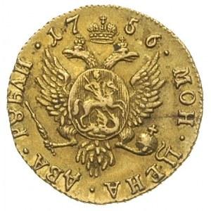 2 ruble 1756, Krasny Dwor, odmiana \ВСЕРОС:, złoto 3.23...