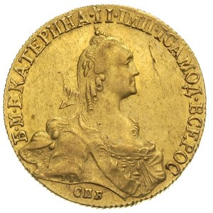 10 rubli 1770 / СПБ - TI, Petersburg, złoto 13.06 g, Di...