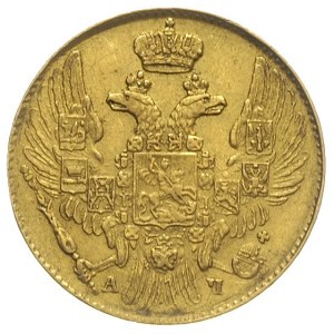 5 rubli 1842 / СПБ - АЧ, Petersburg, złoto 6.49 g, Bitk...