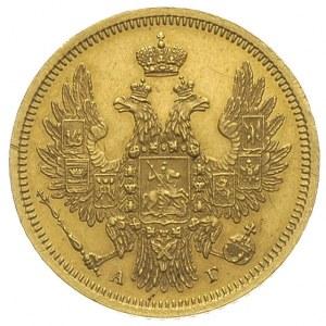 5 rubli 1854 / СПБ - АГ, Petersburg, złoto 6.56 g, Bitk...